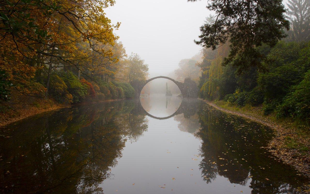 AWAYN IMAGE Rakotzbrücke Park Kromlau