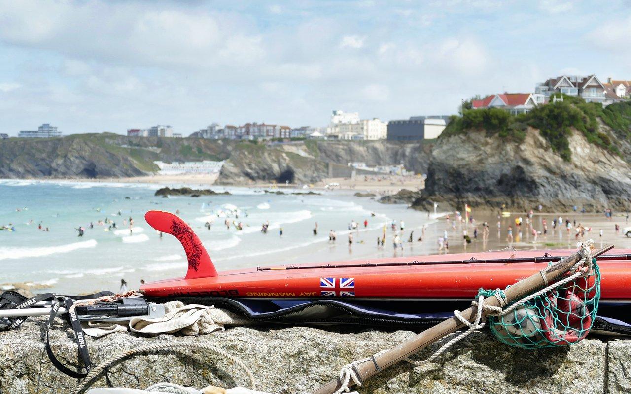 AWAYN IMAGE Newquay Tolcaren Wedge Surfing