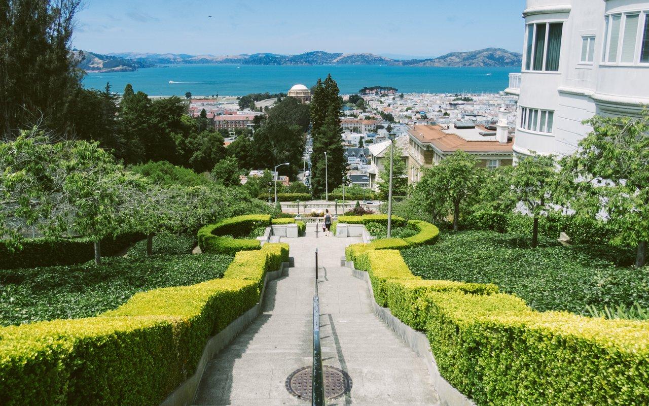 AWAYN IMAGE Walk up Lyon Street Steps San Francisco