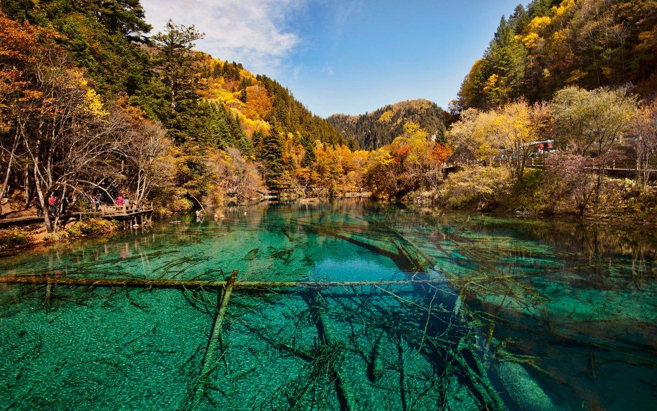 AWAYN IMAGE Huanglong Travertine Pools