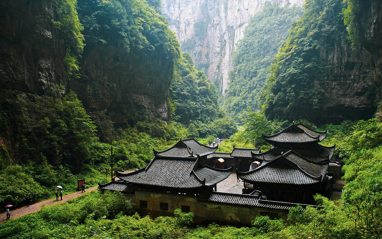 AWAYN IMAGE Wulong Tiankeng Three Natural Bridges