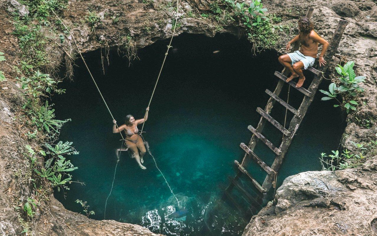 AWAYN IMAGE Cenote Calavera a Stunning Swimming Spot in Tulum