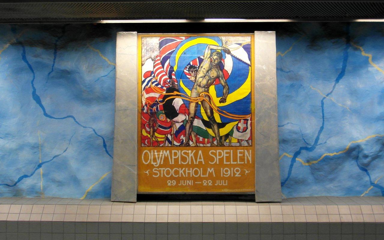 AWAYN IMAGE Stockholm Stadion Underground station
