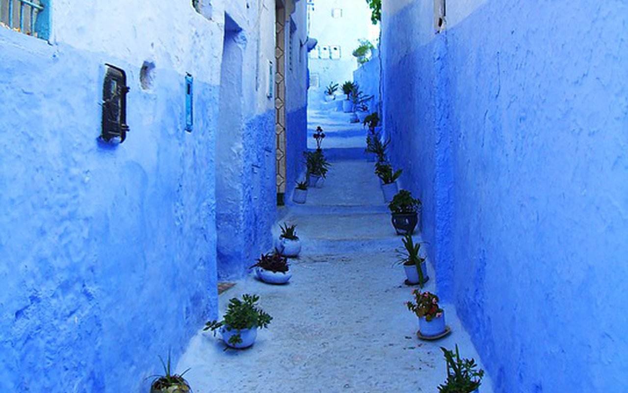AWAYN IMAGE Explore the blue strees of Chefchaouen