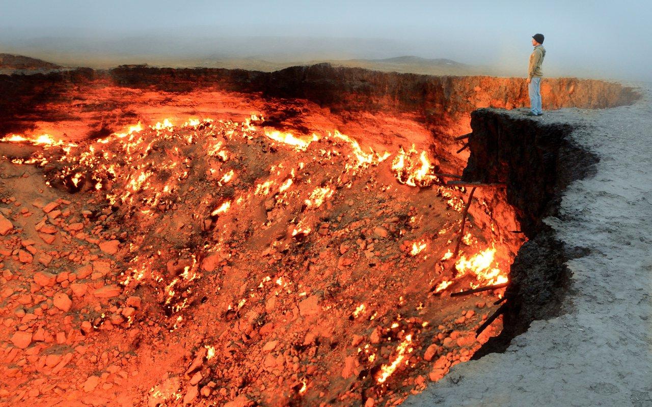 AWAYN IMAGE Darvaza gas crater