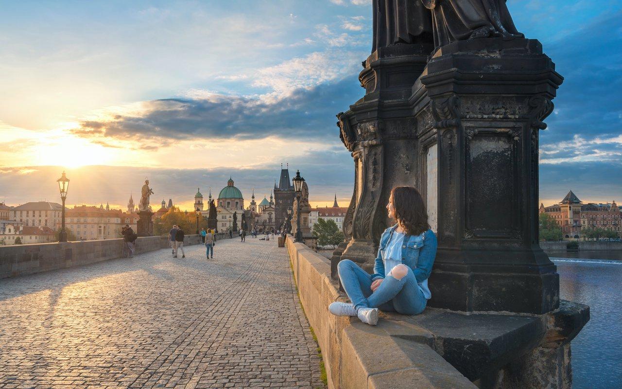 AWAYN IMAGE Charles Bridge - Famous Historic Bridge in Prague