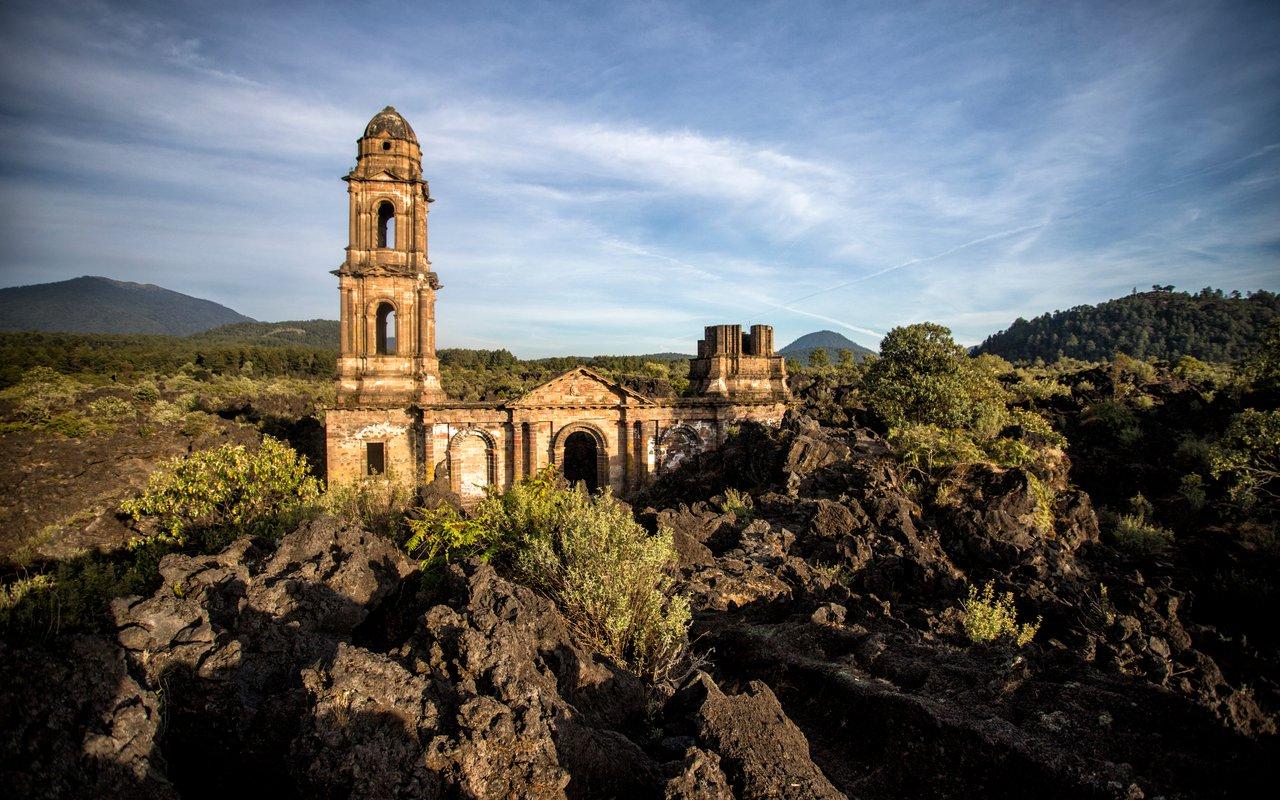 AWAYN IMAGE Ancient Church of San Juan Parangaricutiro