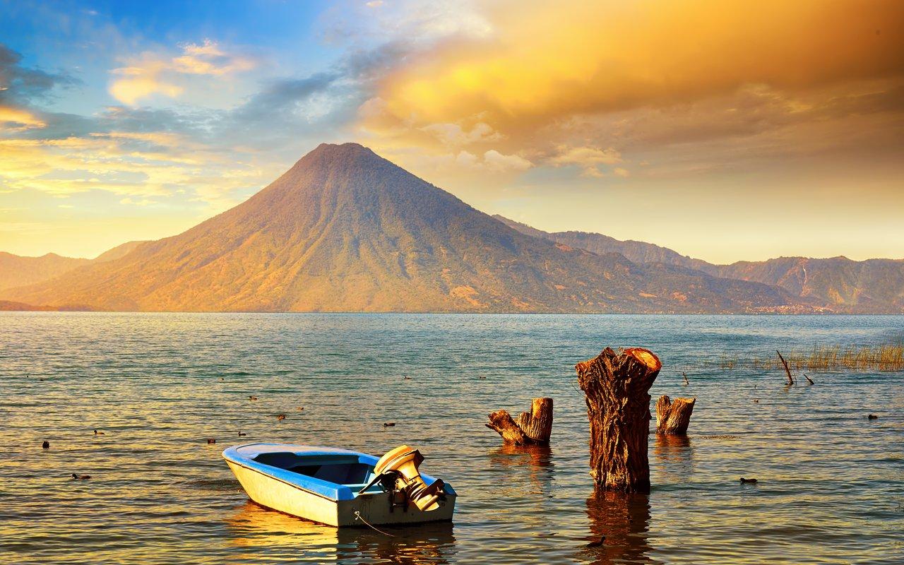AWAYN IMAGE Lake Atitlan  and volcano San Pedro