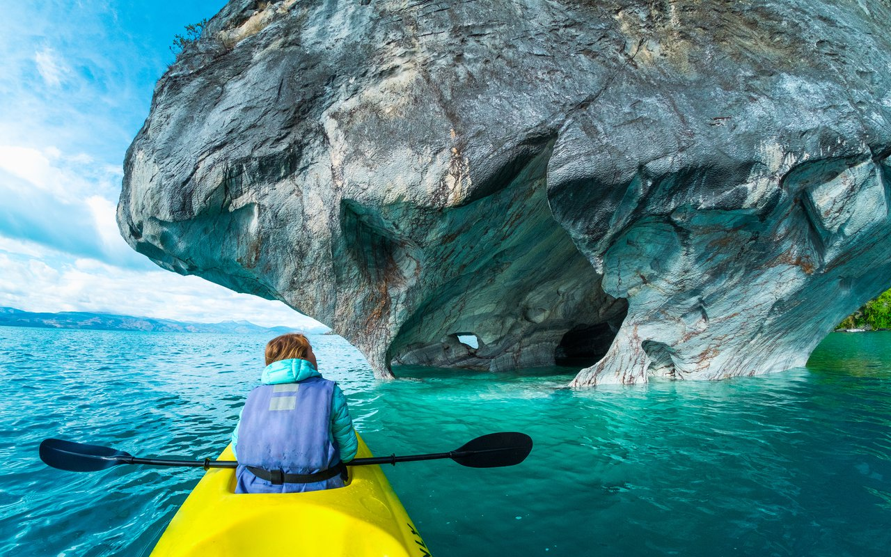 AWAYN IMAGE Kayak to Catedrales de Marmol (Marble Cathedral)