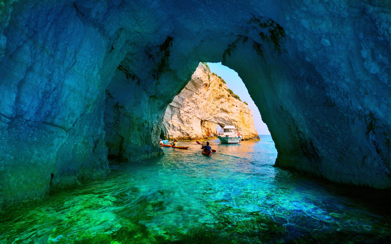 AWAYN IMAGE Boating trip to Blue Caves of Agios