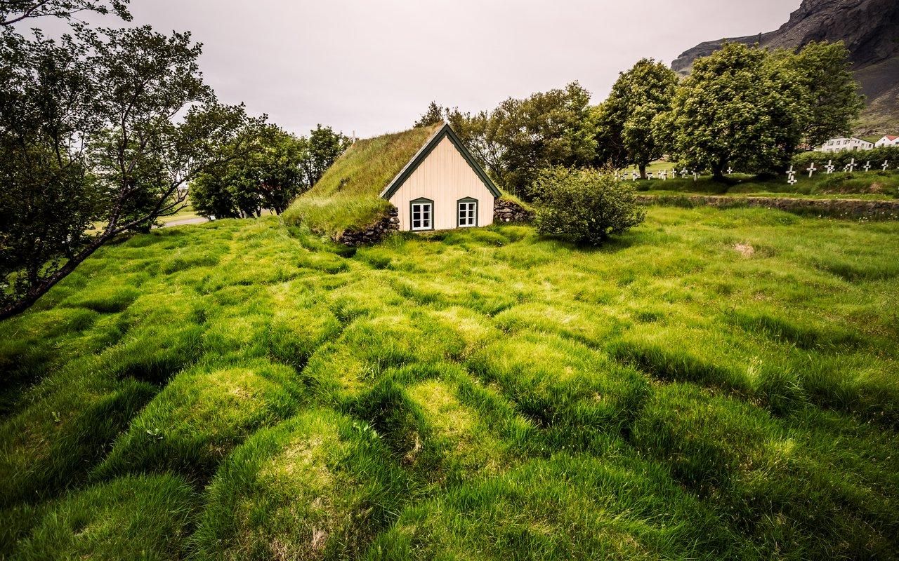 AWAYN IMAGE Photograph the Hofskirkja Church