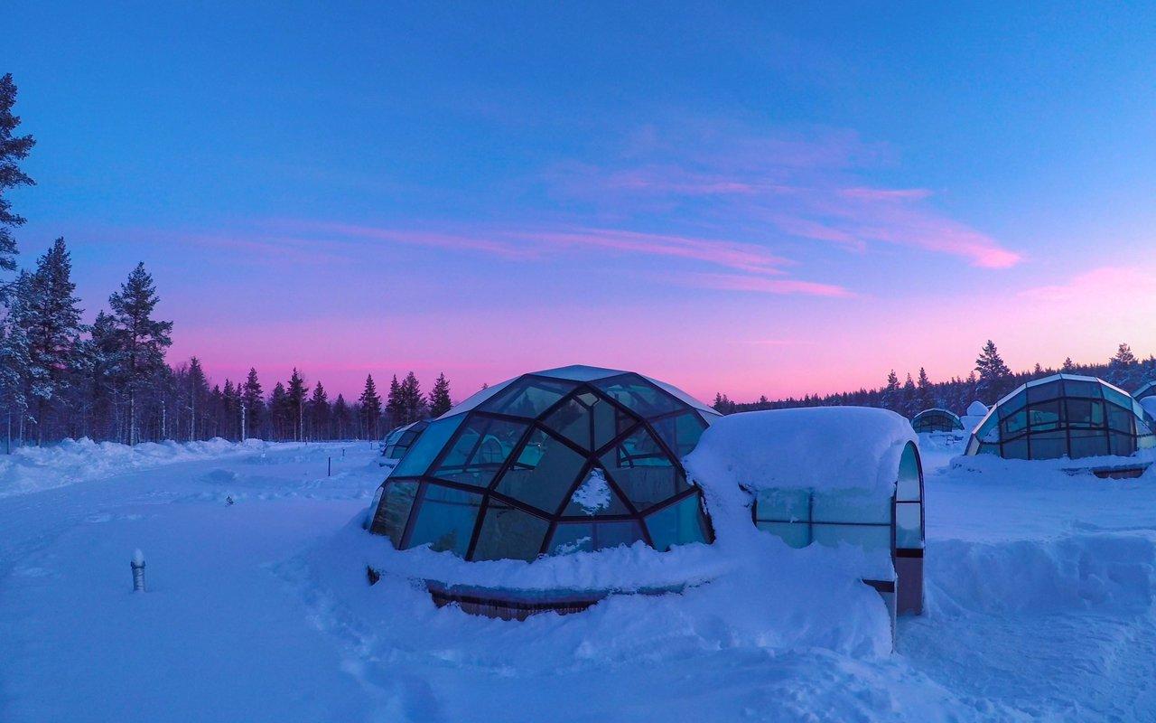 AWAYN IMAGE See the Northern Lights from Kakslauttanen Arctic Resort