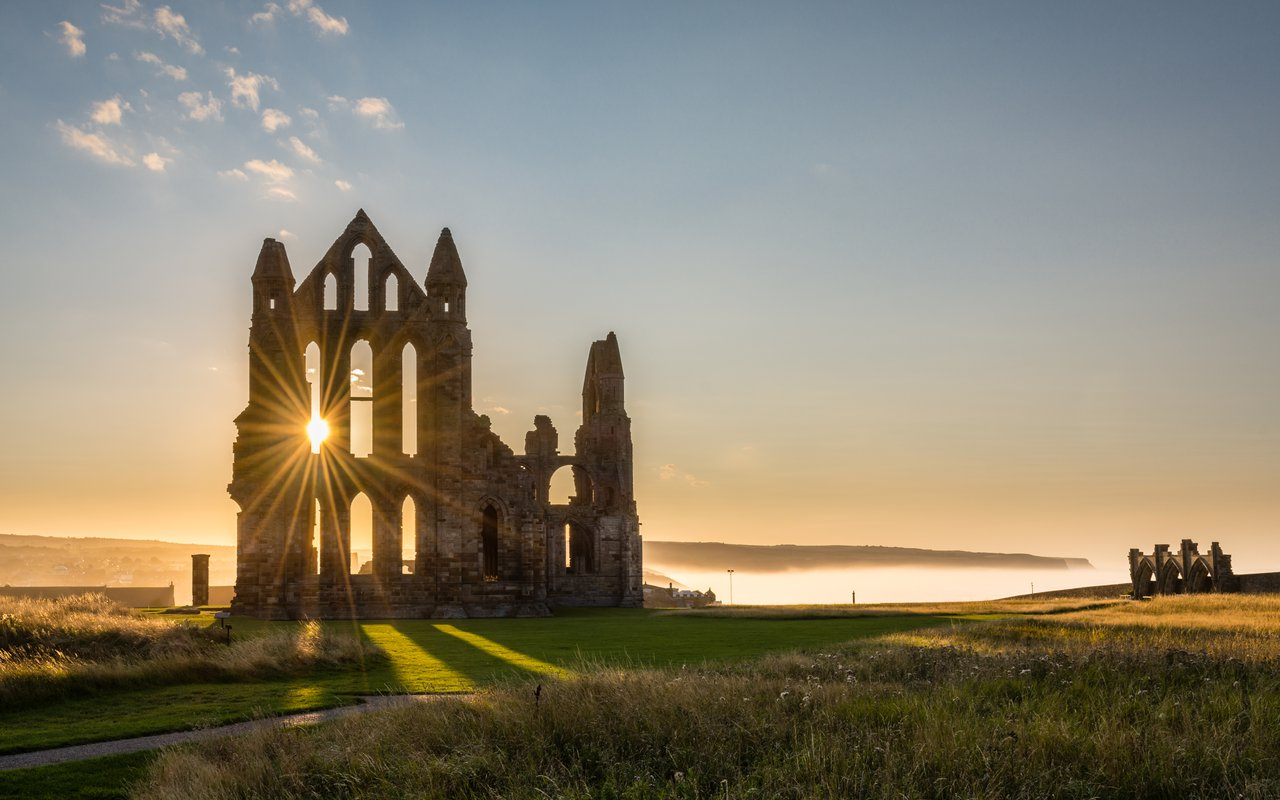 AWAYN IMAGE Walk around Whitby Abbey ruins