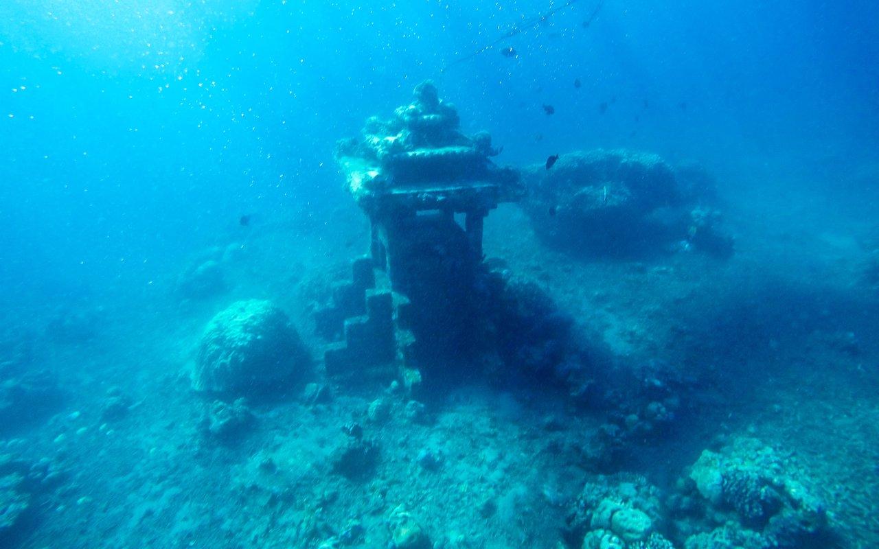 AWAYN IMAGE Dive down to Underwater Temple Garden (Taman Pura)