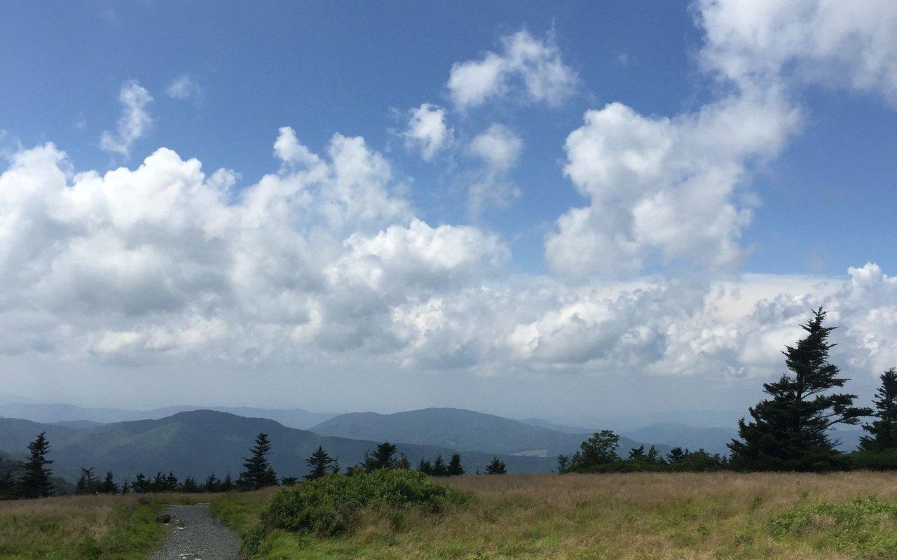 AWAYN IMAGE Appalachian Trail Three Bald Hike near Bakersville, North Carolina