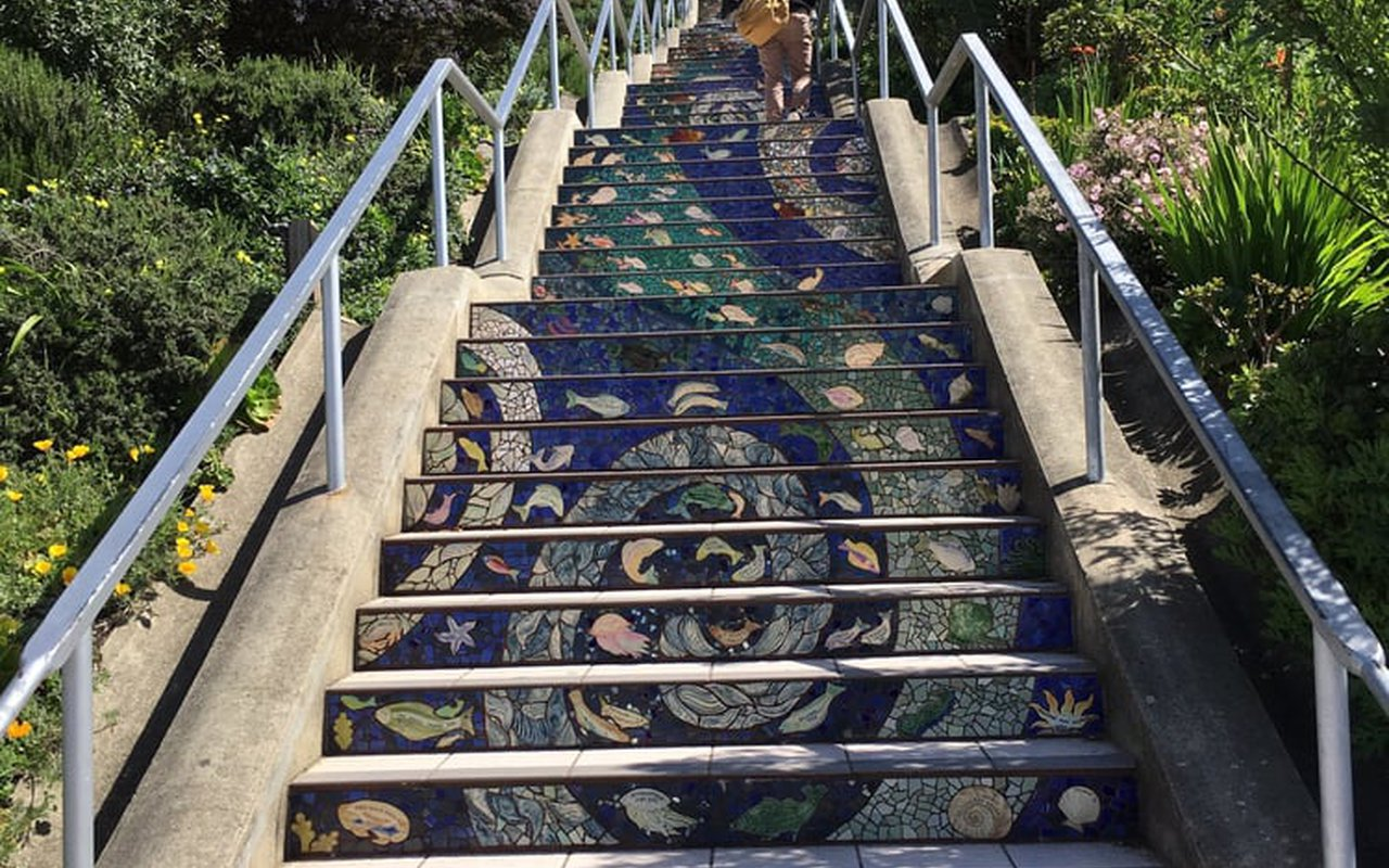 AWAYN IMAGE Photograph the 16th Avenue Tiled Staircase