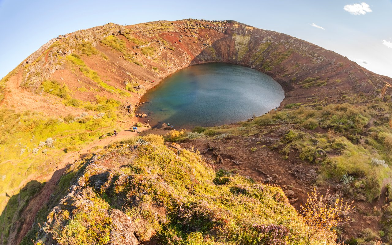 AWAYN IMAGE Kerid a lake filled volcanic crater