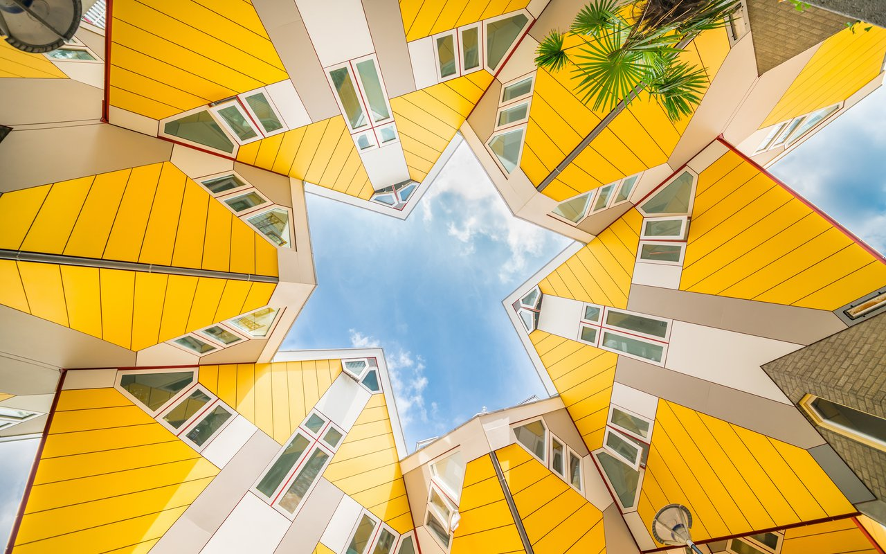 AWAYN IMAGE Fascinating Curious Cube Houses of Rotterdam