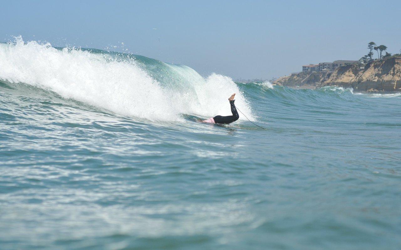 AWAYN IMAGE Surfing in Dell Mar beach SD