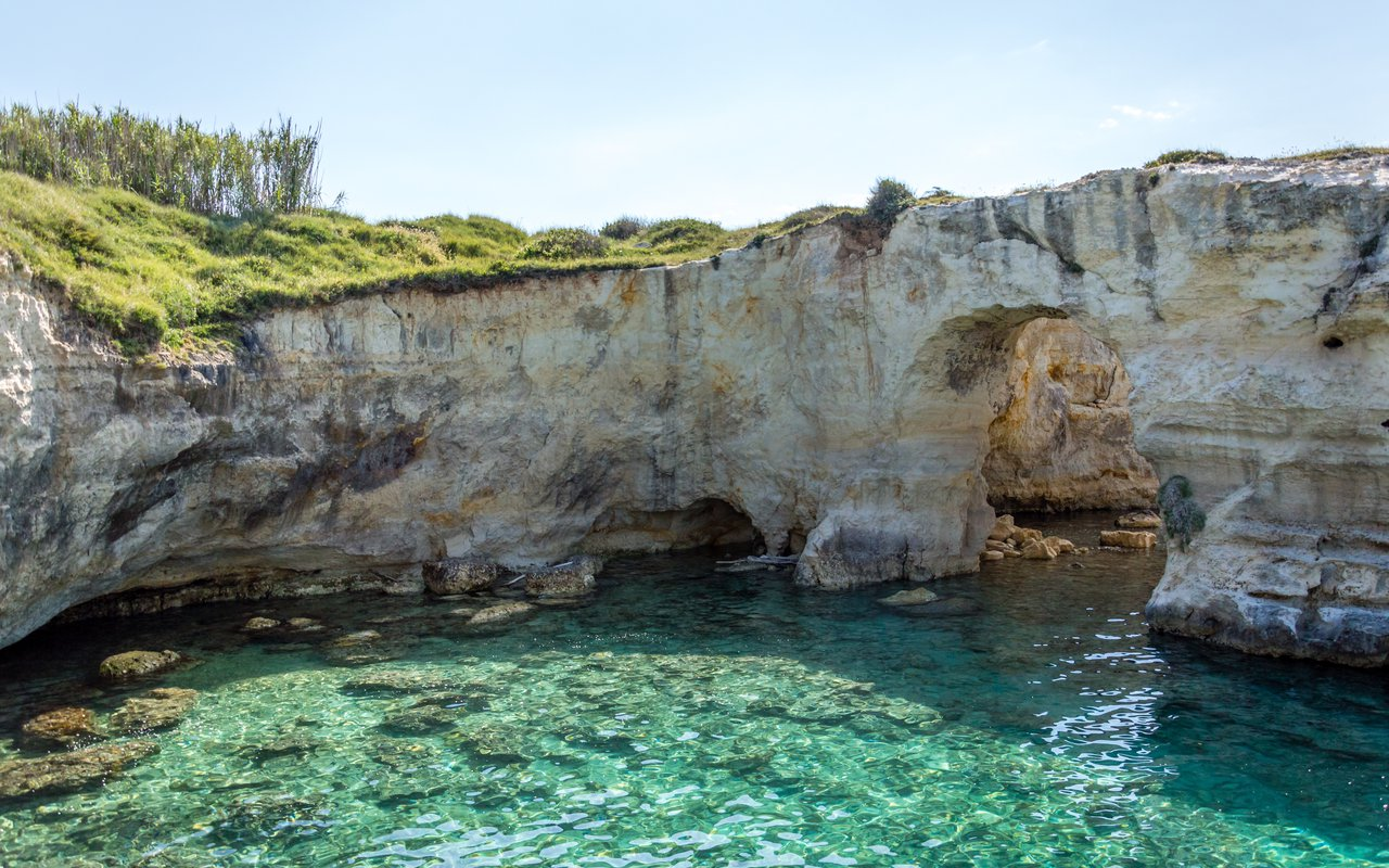 AWAYN IMAGE Cliff jumping at Torre Sant'Andrea