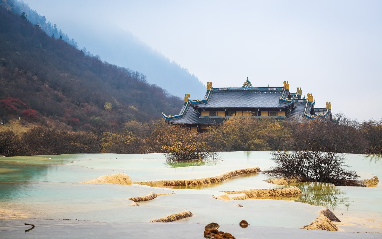 AWAYN IMAGE Huanglong Scenic and Historic paradise