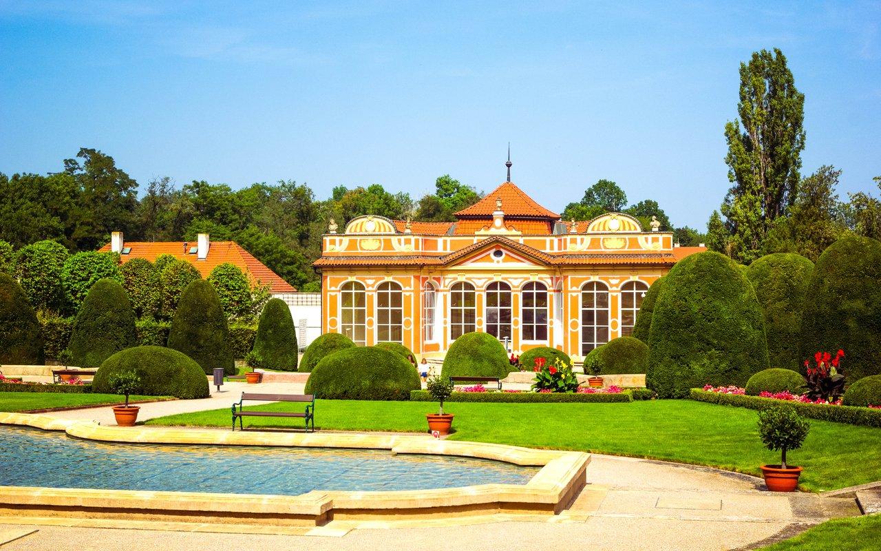AWAYN IMAGE Vrtba garden or Vrtbovska zahrada in old town of Prague