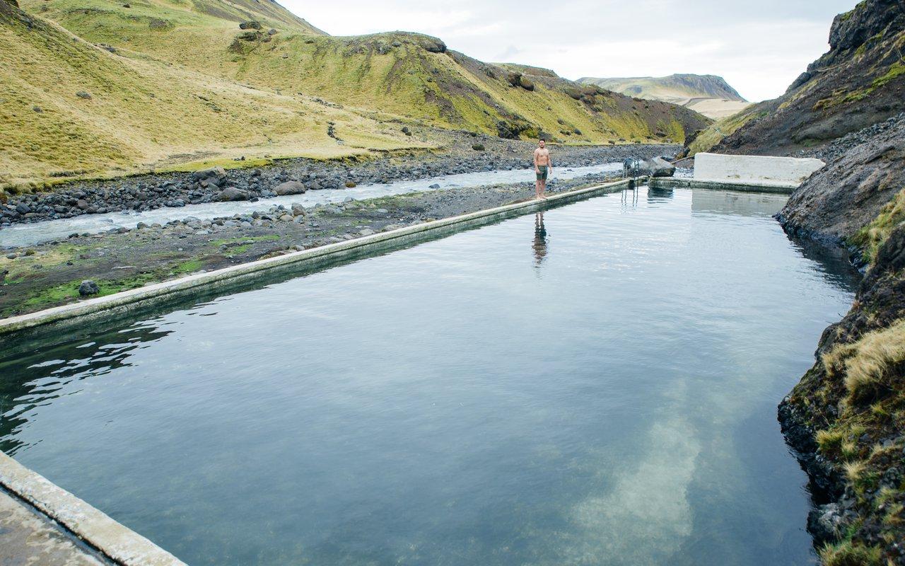 AWAYN IMAGE Seljavallalaug Hidden Pool in Iceland