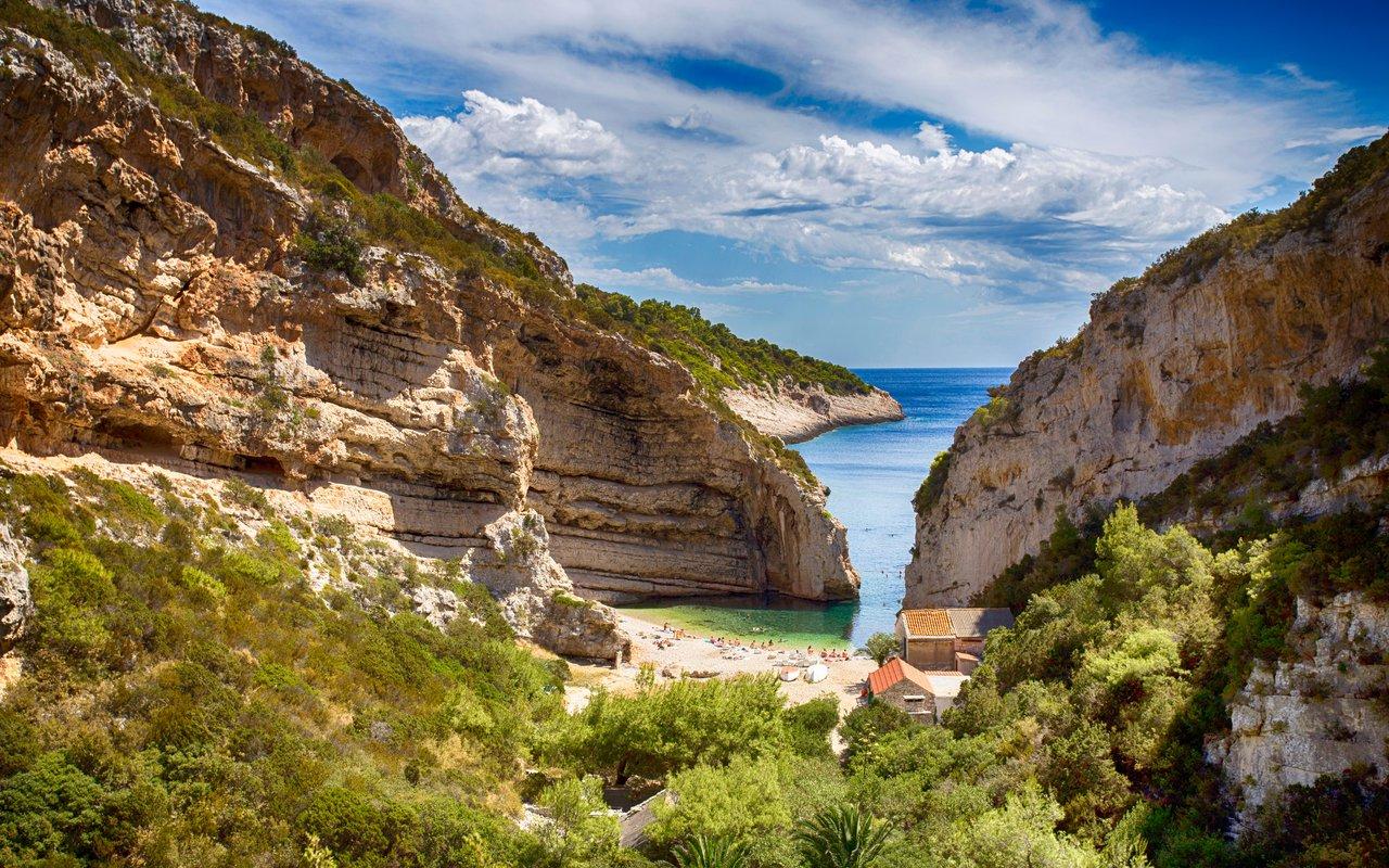 AWAYN IMAGE Explore Stiniva, on the Croatian island of Vis