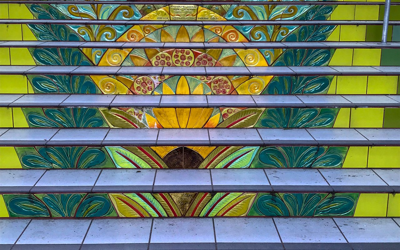 AWAYN IMAGE Walk up Lyon Street Steps San Francisco