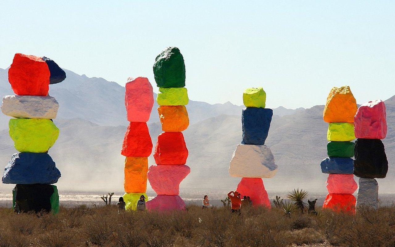 AWAYN IMAGE Visit Seven Magic Mountains art installation in LV