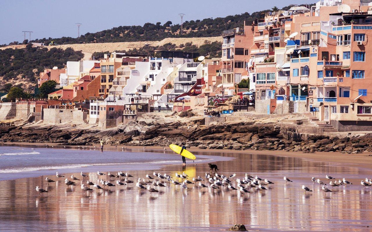 AWAYN IMAGE Beach day Taghazout Beach, Morocco