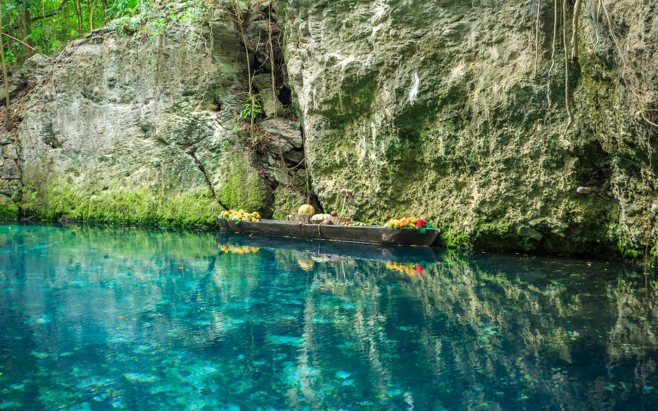 AWAYN IMAGE Swim in Xcaret Park blue river