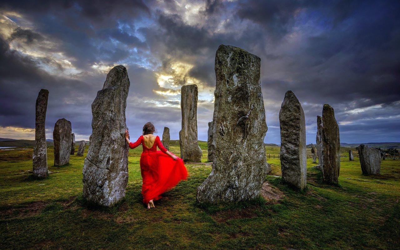 AWAYN IMAGE Photograph The Callanish Stone Circle