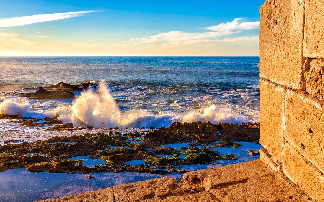 AWAYN IMAGE Tide Pools of the Essaouira beach