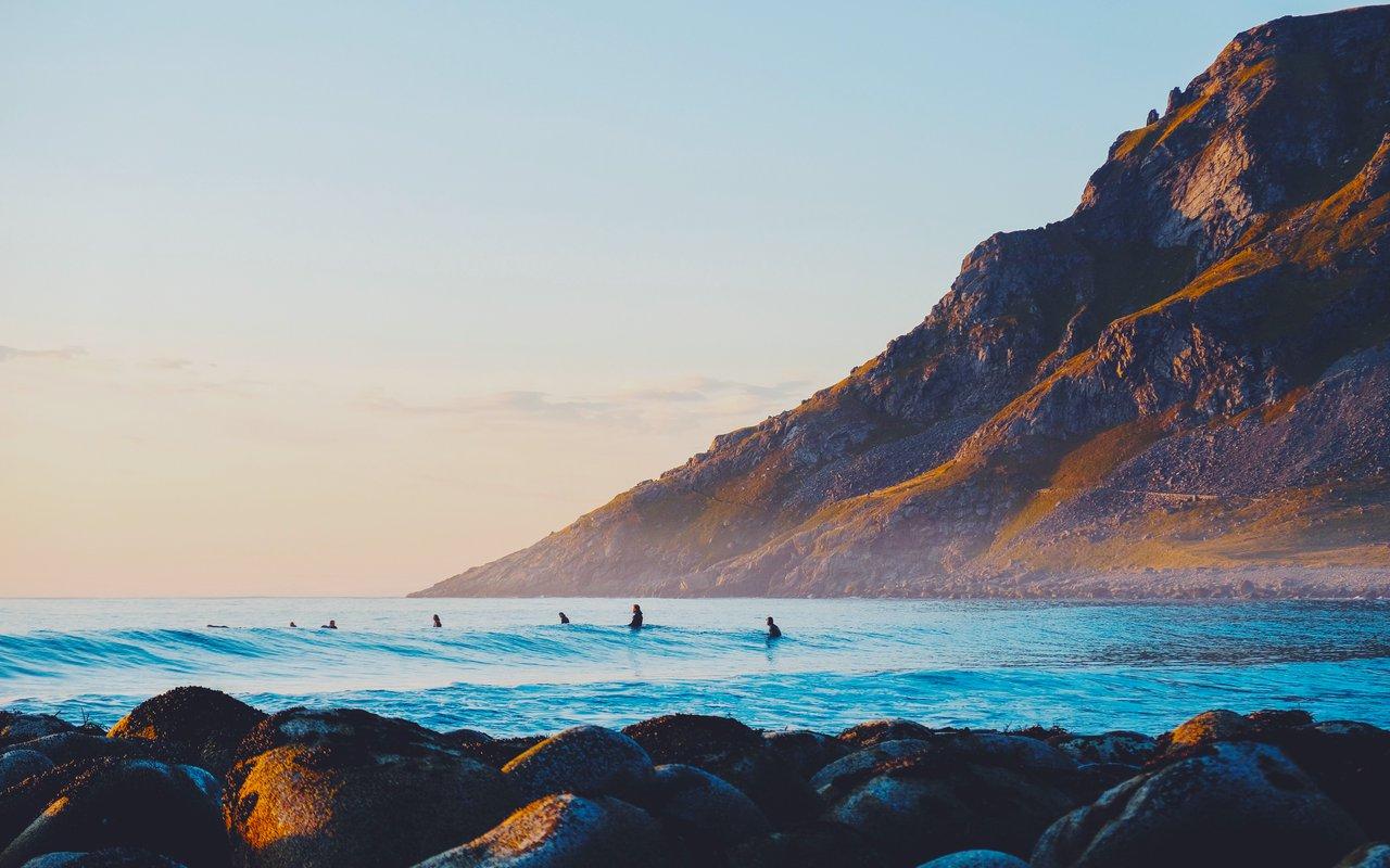 AWAYN IMAGE Winter Surfing in Unstad  Beach
