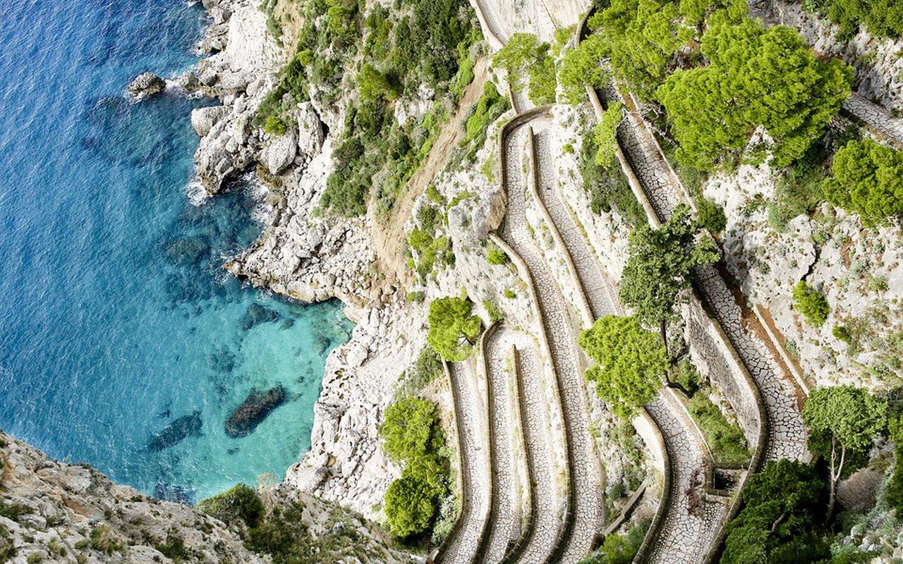 AWAYN IMAGE Via Krupp Capri secret path