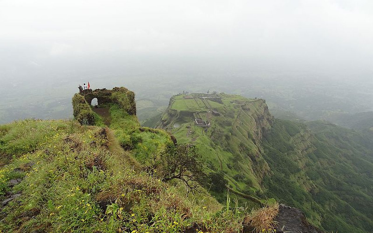 AWAYN IMAGE Catch the aerial views Rajgad fort Maharashtra
