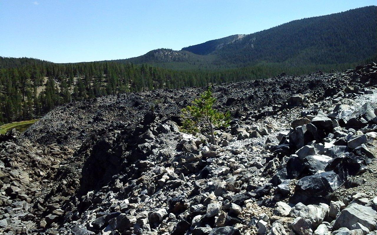 AWAYN IMAGE Big Obsidian Flow Hike