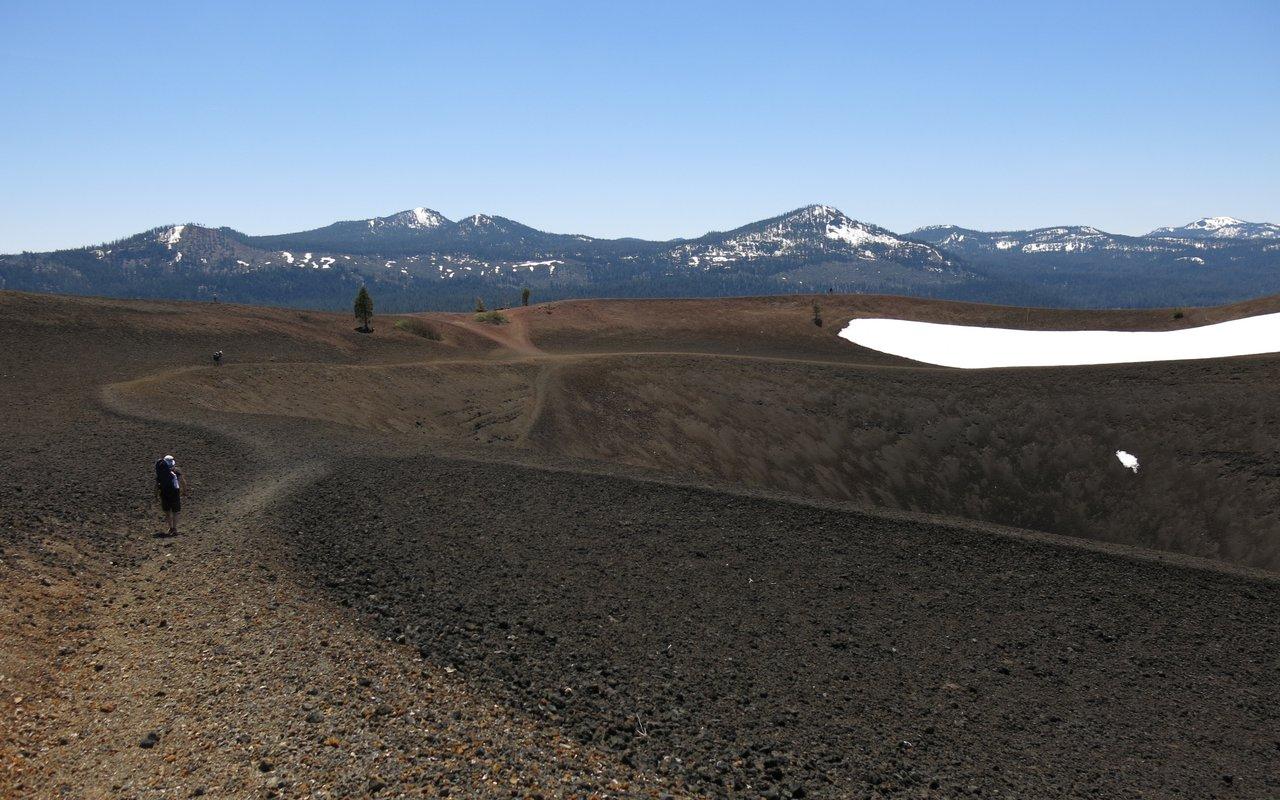 AWAYN IMAGE Cinder Cone Caldera, Lassen Volcanic National Park