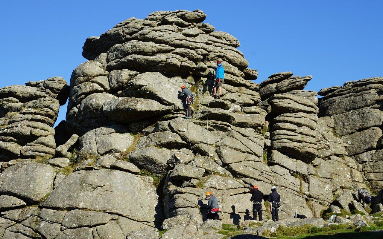 AWAYN IMAGE Rock Climbing Dartmoor National Park