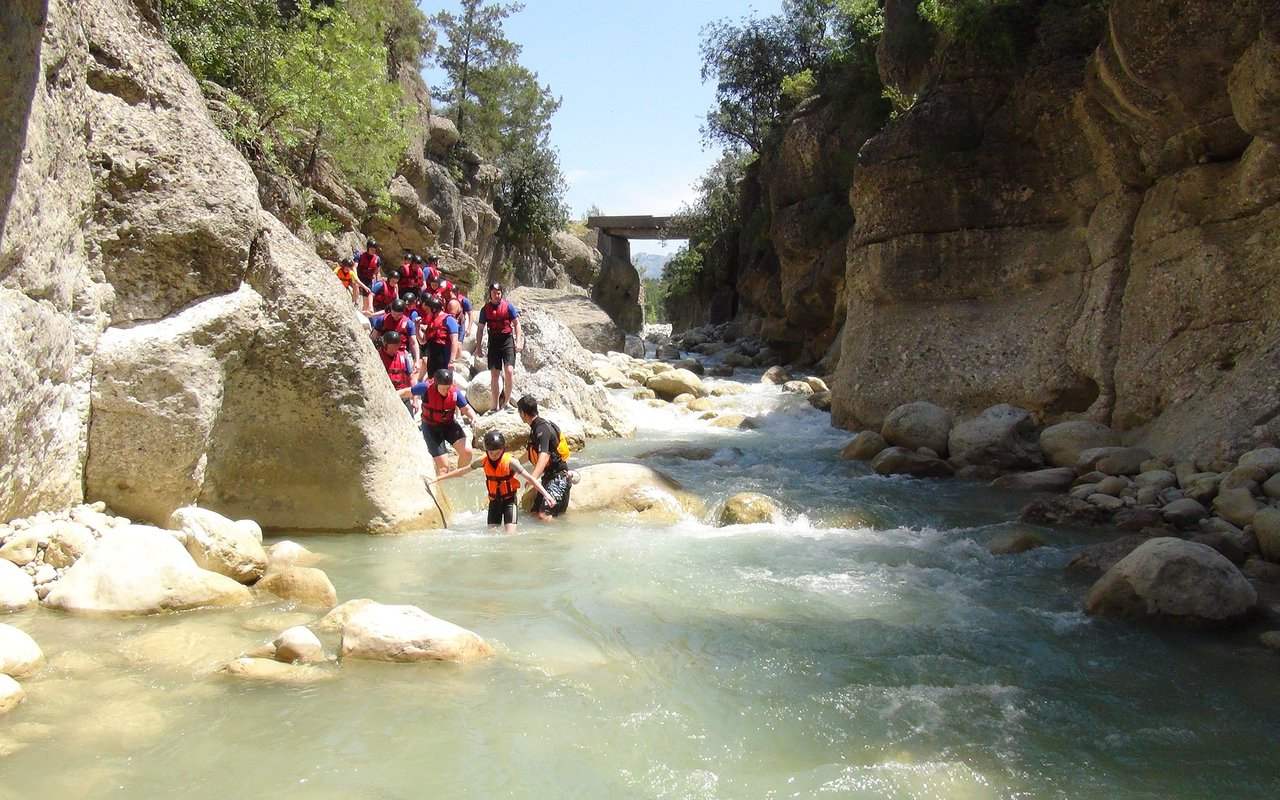 AWAYN IMAGE Canyoning safari +Zip fly trip to Canyon Goynuk