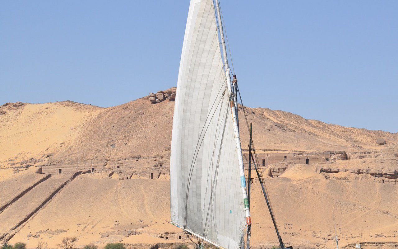 AWAYN IMAGE Felucca Ride on the Nile in Aswan