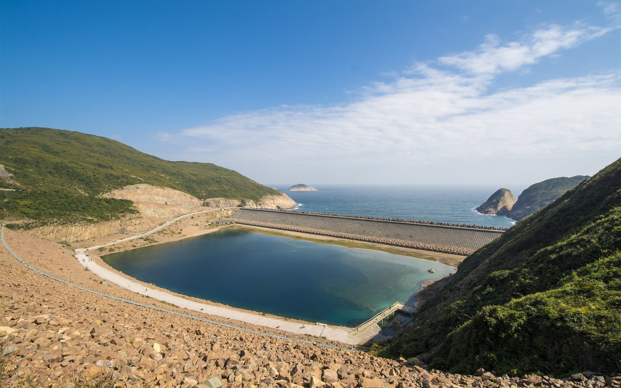 AWAYN IMAGE East Dam, High Island Reservoir