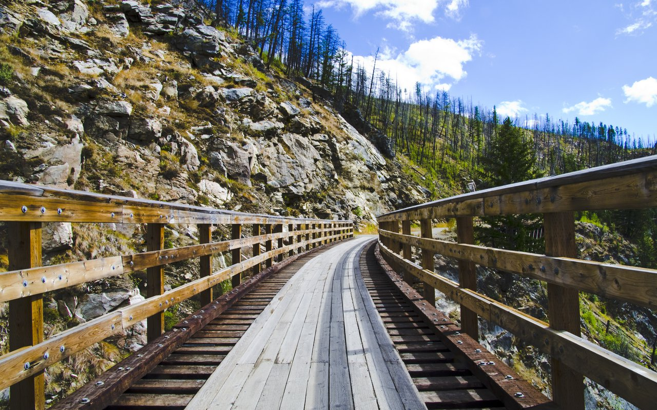 AWAYN IMAGE Hike in Myra Canyon Trail