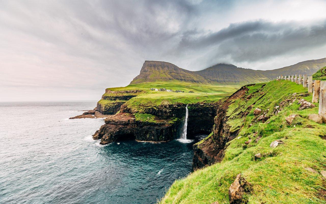 AWAYN IMAGE Mulafossur Waterfall Vagar Island