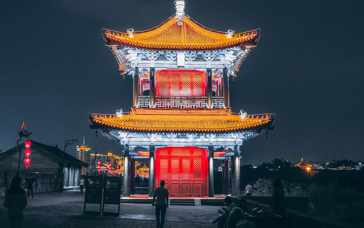 AWAYN IMAGE Night Photography Xi'an Bell Tower