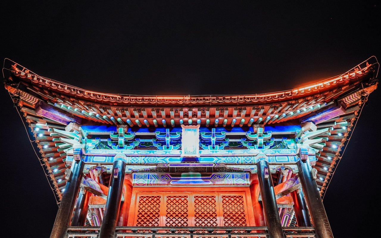 AWAYN IMAGE Night Photography Xi'an Bell Tower