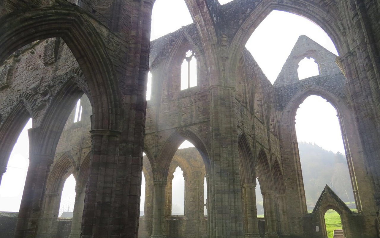 AWAYN IMAGE Walk around medieval abbey in Wales Tintern Abbey
