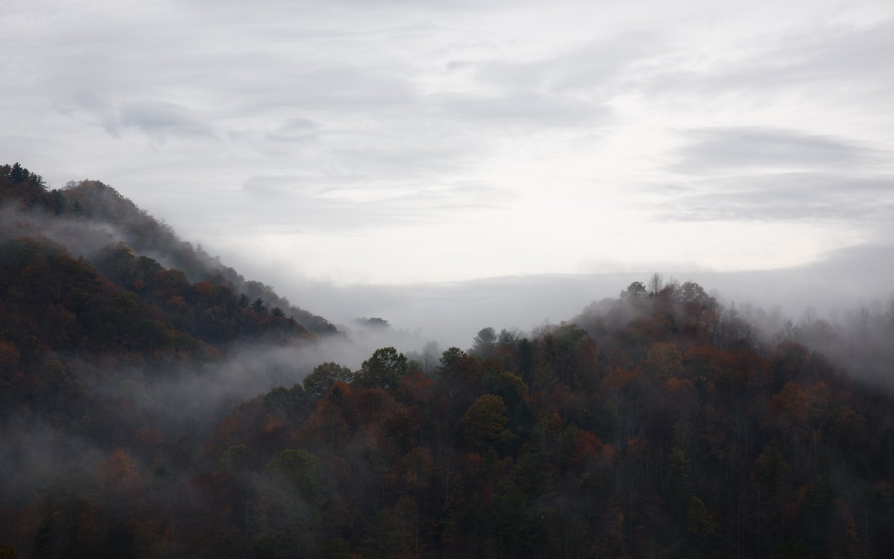 AWAYN IMAGE Driving to Blowing Rock Village in NC