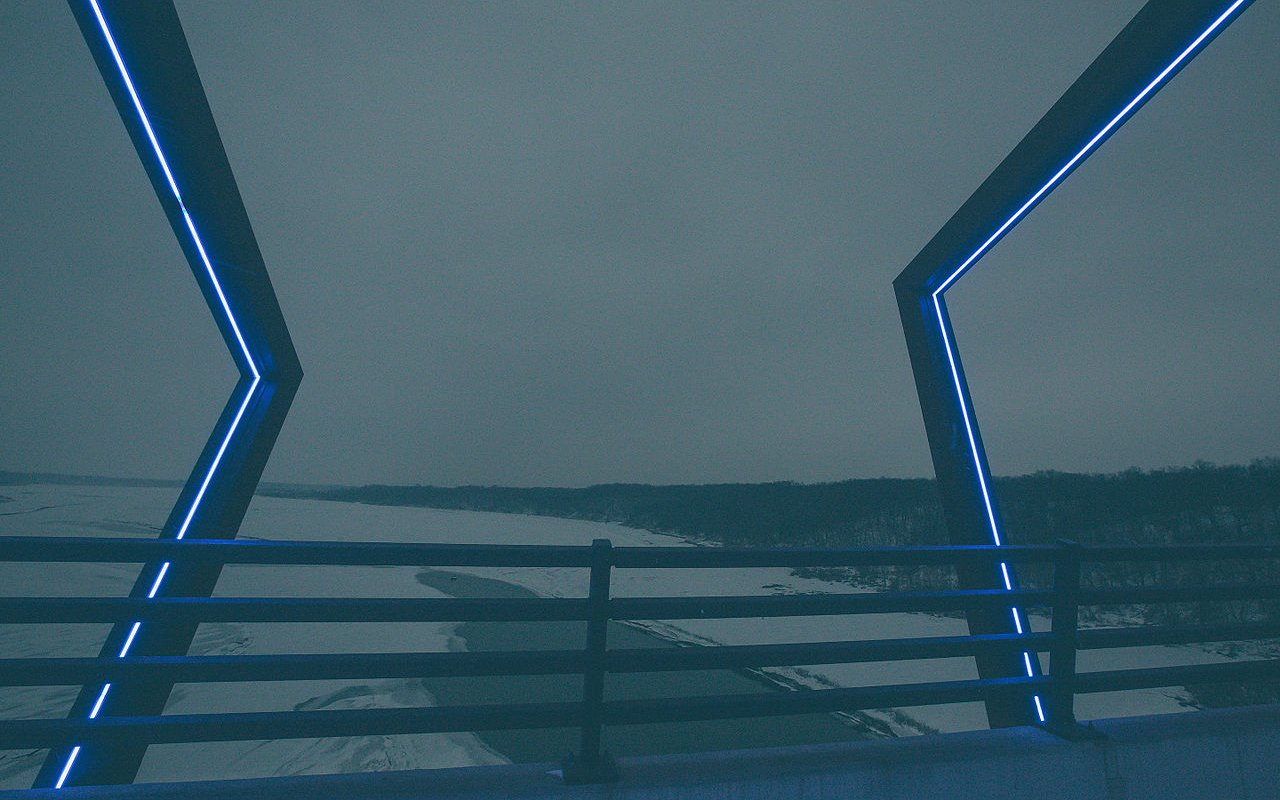AWAYN IMAGE Photograph High Trestle Trail Bridge